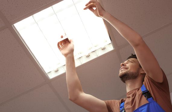 LED照明の取り換え工事